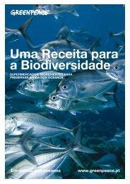 Uma Receita para a Biodiversidade - Greenpeace
