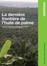 La dernière frontière de l'huile de palme - Greenpeace