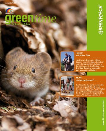 Das Greenteam Green Tiger aus Potsdam - Greenpeace