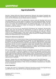 Factsheet Agrotreibstoffe 2013 (PDF) - Greenpeace