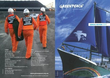 ANNUAL REVIEW 2005 www.greenpeace.org.au