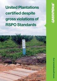 How United Plantations - Greenpeace