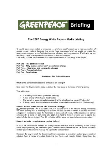 essay on greenpeace