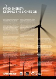 Wind energy: keeping the lights on