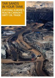 TAR SANDS IN YOUR TANK - Greenpeace UK