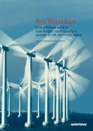 Sea Wind East - Greenpeace UK