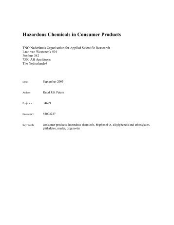 Hazardous Chemicals in Consumer Products - Greenpeace UK