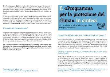 Il programma per la protezione del clima - Greenpeace Ticino