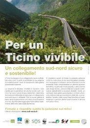 Un collegamento sud-nord sicuro e sostenibile! - Greenpeace Ticino