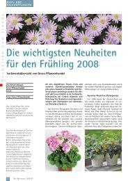 Die wichtigsten Neuheiten für den Frühling 2008 (PDF) - bei GREEN ...