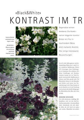 Kontrast im Trend (PDF) - bei GREEN Pflanzenhandel GmbH