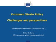 European Waste Policy Challenges and perspectives