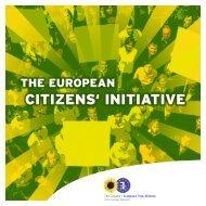 CITIZENS' INITIATIVE - The Greens   European Free Alliance