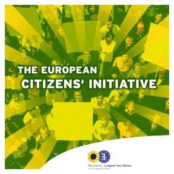 CITIZENS' INITIATIVE - The Greens | European Free Alliance