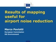 Results of mapping useful for airport noise reduction