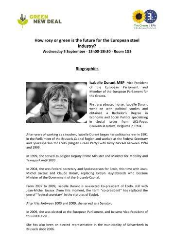 Biographies - The Greens | European Free Alliance