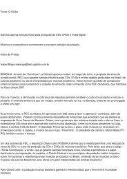 Fonte: O Globo Câmara aprova isenção fiscal para ... - AARFFSA
