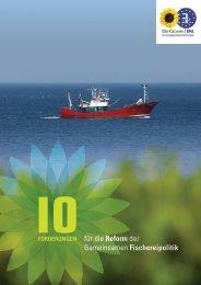 10 Forderungen für die Reform der Gemeinsamen Fischereipolitik