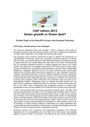 CAP reform 2013 Green growth or Green deal?