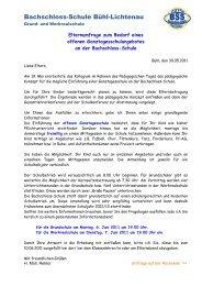 Elternbrief Nr. 10 30.mai 2011