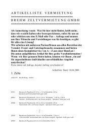 1. Zelte - Brehm Zeltvermietung Gmbh