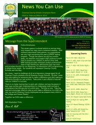 March 2013 Newsletter - Greenup County School District