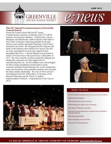 June 2012 e:news - Greenville Central School District
