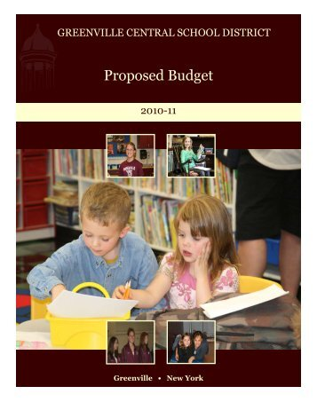 2010-11 Proposed Budget - Greenville Central School District