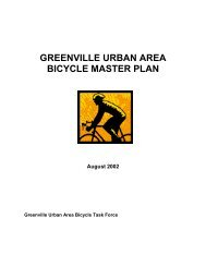 greenville urban area bicycle master plan - City of Greenville