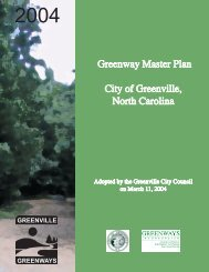 Greenway Master Plan City of Greenville, North Carolina