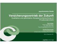 Psychonomics Angebot Versicherungsvertrieb Der Zukunft - Yougov
