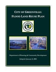 CITY OF GREENVILLE FLOOD LAND REUSE PLAN