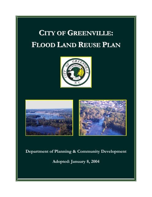CITY OF GREENVILLE FLOOD LAND REUSE PLAN
