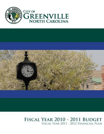Fiscal Year 2010 - 2011 Budget - City of Greenville