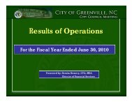 Results of Operations - City of Greenville