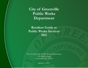 City of Greenville Public Works Department - Russell Property ...
