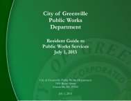 Resident Guide to Public Works Services - Internet - City of Greenville