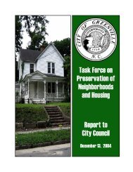 Task Force on Preservation of Neighborhoods ... - City of Greenville