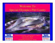 Welcome To Special Olympics Pitt County