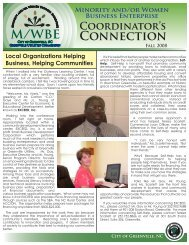 MINORITy ANd/OR WOMEN BUSINESS ... - City of Greenville