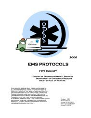 Pitt County EMS Protocols, rev. 4, 1/23/2008