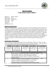 Code Enforcement Officer - City of Greenville