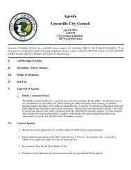Agenda Greenville City Council - City of Greenville