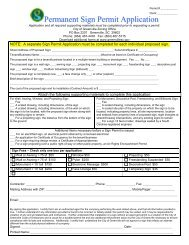 Permanent Sign Permit Application - City of Greenville