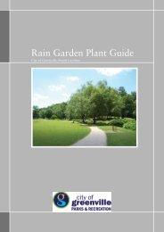 Rain Garden Plant Guide - City of Greenville