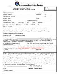 Occupancy Permit Application - City of Greenville
