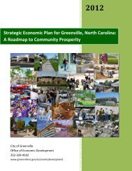 Strategic Economic Plan for Greenville, North ... - City of Greenville