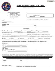 FIRE PERMIT APPLICATION - City of Greenville