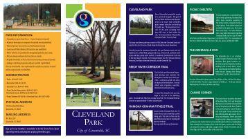 Download Cleveland Park Brochure - City of Greenville