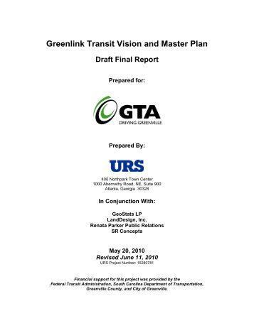 Greenlink Transit Vision and Master Plan - City of Greenville